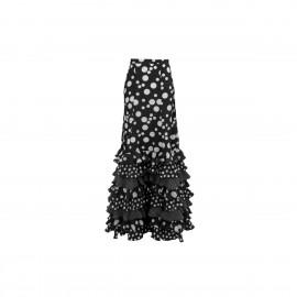 amay Flamenco Rock schwarz mit weißen Punkten