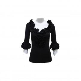 amay Flamenco Oberteil schwarz