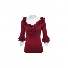 amay Flamenco Oberteil Rioja rot