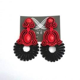 Handgemachte Flamenco Ohringe - UNIKAT - Rot